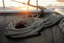 Free White Tight Rope Near A Brown Surface During Sun Set Royalty Free Stock Photo - 96933685