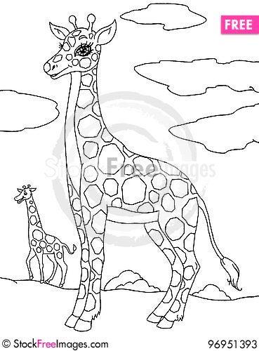 Free Cartoon Giraffe Stock Photos - 96951393
