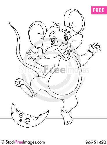Free Funny Cartoon Mouse Stock Photo - 96951420