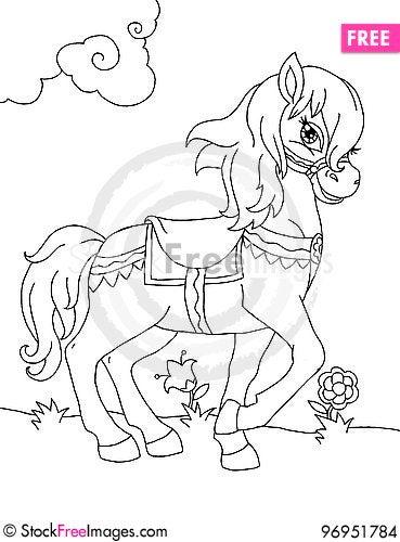 Free Cartoon Pony Stock Images - 96951784