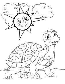 Free Funny Cartoon Turtle Royalty Free Stock Photo - 96951645