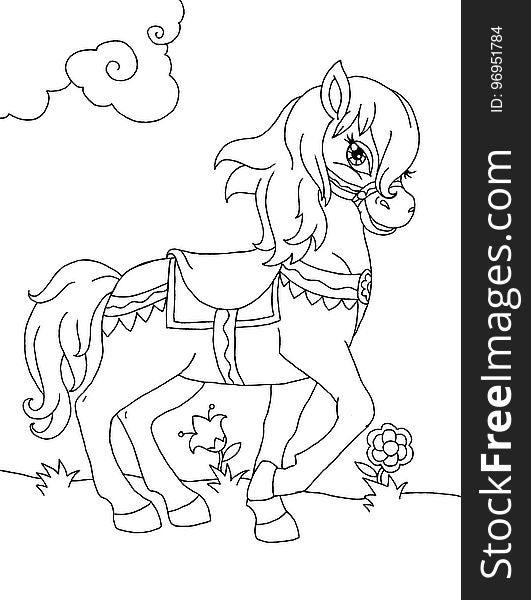 Cartoon pony