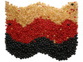 Free Currant, Different Colors, Placed In A For Of The Flag Stock Image - 977861