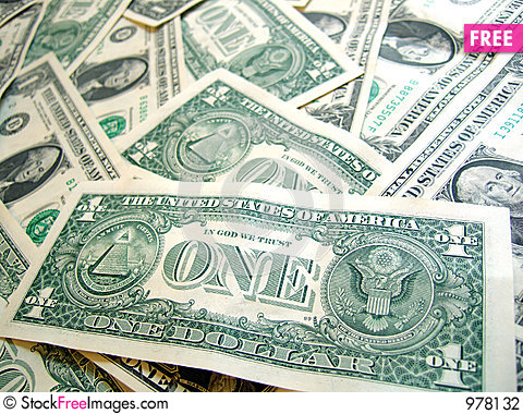 American Dollar PACK Stock Photo