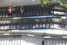 Free Escalators Scene. Royalty Free Stock Photos - 970298