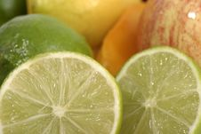Free Close-up Of Lime Slice 1 Stock Images - 970754