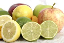 Free Close-up Of Lime And Lemon Slice 3 Stock Photography - 970762