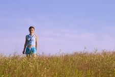 Free Girl In Grass Stock Image - 971411