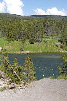 Yellowstone Lake _Mountain Stock Images