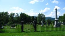 Free Cemetery In The Mountains Royalty Free Stock Photos - 974648