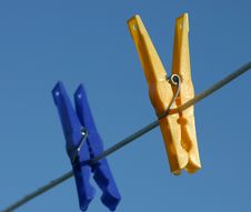 Clothes Pegs Royalty Free Stock Photography