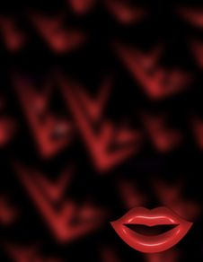 Free Lip Background Royalty Free Stock Images - 975449