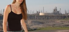 Free Refinery Girl (weird Scene) Stock Images - 975554