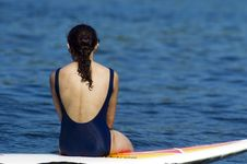 Free Surfboard Girl Stock Photography - 975852