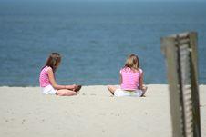 Free Girls On The Beach Stock Photo - 976520