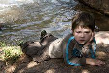 Free Boy Next To Stream Stock Image - 976561