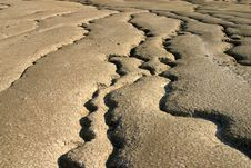 Dry Mud Rivers Stock Photography