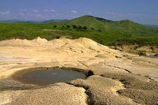 Mud Volcano Crater Stock Photo