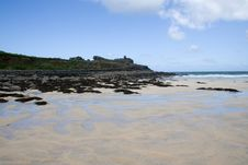 Free Sandy Beach In St Ives Stock Photography - 977892
