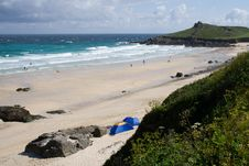 Free English Beach Scene Stock Photo - 977930