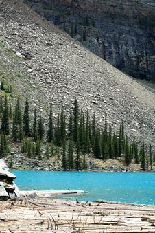 Free Moraine Lake Royalty Free Stock Image - 978486
