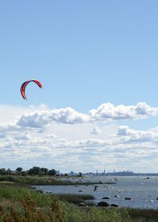Free Kite Surfer Royalty Free Stock Photos - 979378