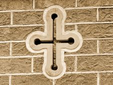 Free Antique Cross On Building Stock Photos - 979513