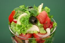 A Fresh Olive Salad Stock Photo