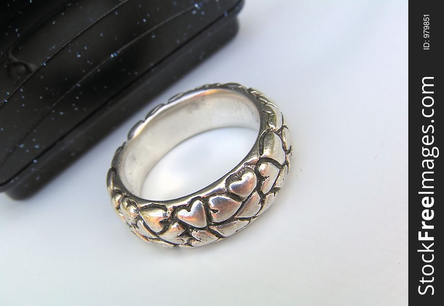 Ring in front of a box