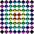Free Rainbow Mosaic Squares Royalty Free Stock Photo - 9708875