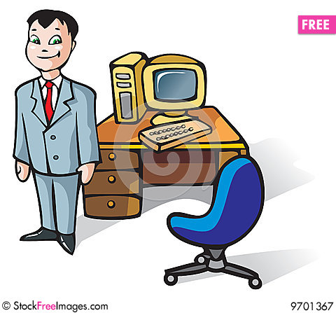 Free Office Clerk Royalty Free Stock Photography - 9701367