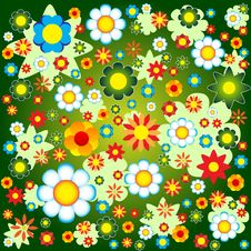 Free Colorful Floral Background Royalty Free Stock Image - 9700716