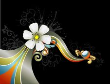 Free Vector Flower Illustration Stock Image - 9700781