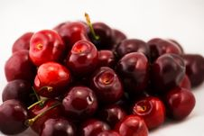 Pile Of Cherries Royalty Free Stock Photography