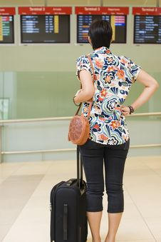 Free Asian Girl At Singapore S Changi Airport Terminal Stock Images - 9701514