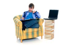 Free Boy Doing Homework Stock Photography - 9701622