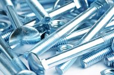 Free Close Up Bolts And Nuts Backround Stock Photo - 9702170