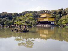 Free Kinkakuji Gold Temple In Kyoto Stock Photography - 9702482