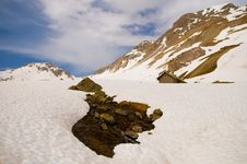 Free Snow-cowered Mountain Slopes Royalty Free Stock Image - 9703086
