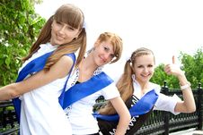 Free Three Funny Graduates Stock Image - 9703441