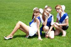 Free Three Funny Graduates Royalty Free Stock Image - 9703536