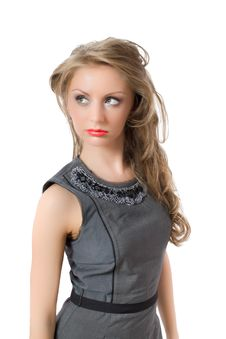 Free Thinking Beautiful Young Female Isolated Stock Photography - 9703582