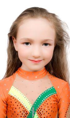 Free Little Girl Gymnast Isolated Stock Photo - 9703620