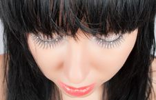 Free Alluring Brunette With Strassed Eyes Isolated Royalty Free Stock Photography - 9703647