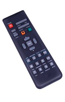 Black Multimedia Remote Control Isolated Stock Photography