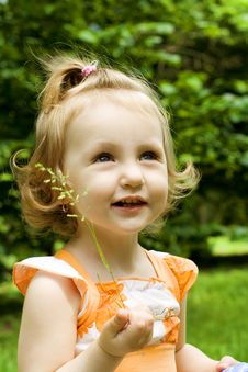 Free Portrait Of The Littel Girl Stock Image - 9704031
