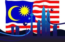 Free Malaysian Flag Royalty Free Stock Photo - 9704055