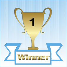 Free Trophy For The Winner Royalty Free Stock Photography - 9704077