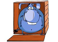 Free Donkey In Box Royalty Free Stock Image - 9704596