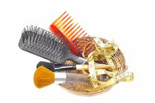 Free Brushes And Comb Stock Image - 9704741